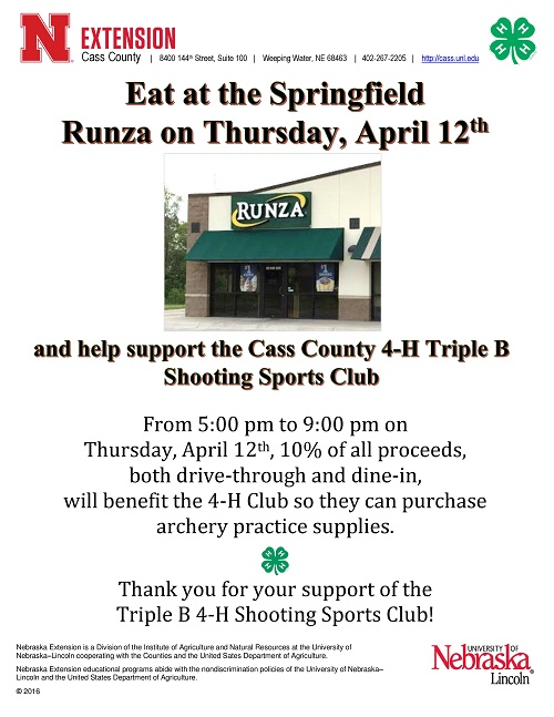 4H Fundraiser April 12