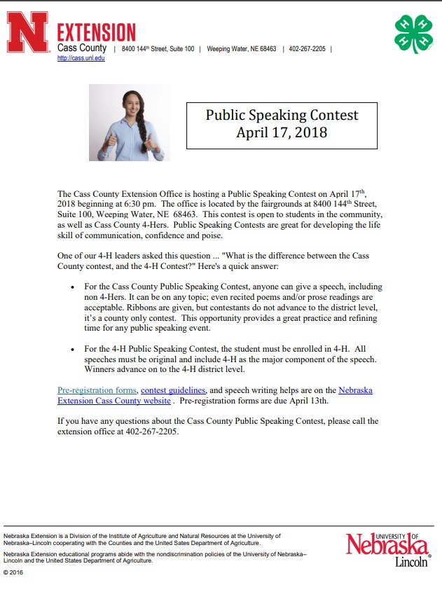 4H speaking contest