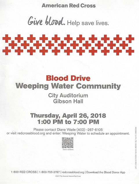 April 2018 Blood Drive