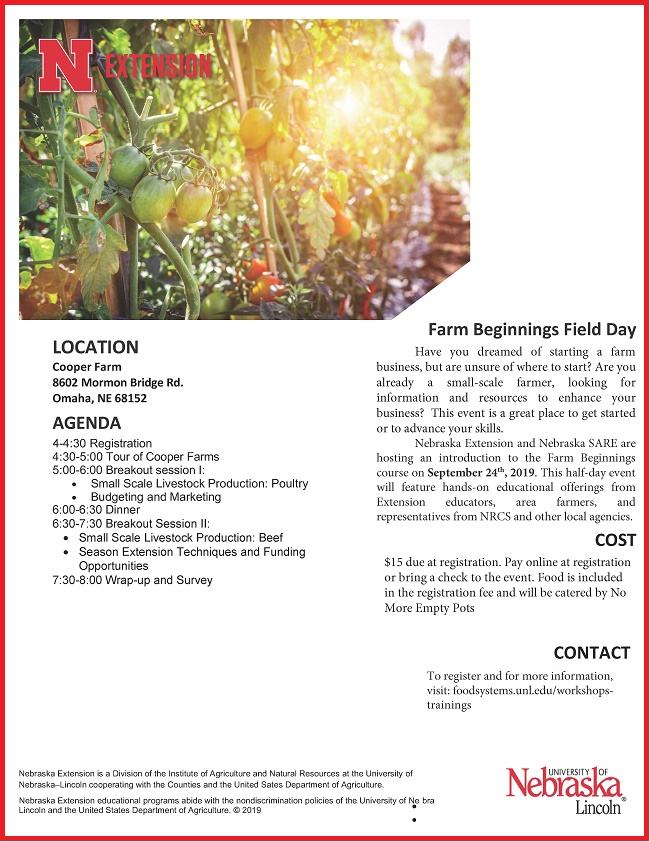 Farm Ambitions Flyer 2019